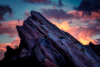 Sunset at Vazquez Rocks