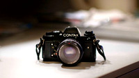 My first camera, a Contax film SLR
