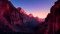 Sunset near Angel's Landing, Zion