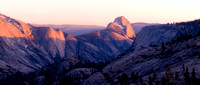 View of Half Dome: Cloudless Sunset at Olmstead Point
