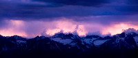 Rainclouds and Sunset over the Eastern Sierras from Ancient Bristlecone Pine Forest, Owens Valley